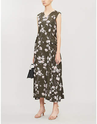 Max Mara S Rasoio floral-print cotton-jersey midi dress