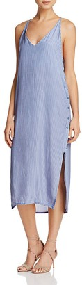 Faithfull the Brand Side Button Dress $160 thestylecure.com