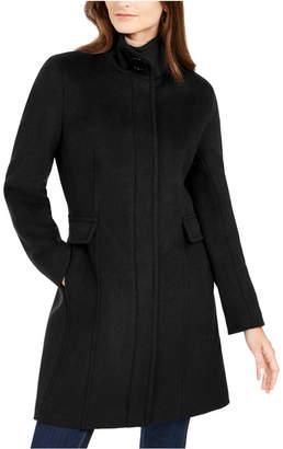 Calvin Klein Petite Stand Collar Walker Coat