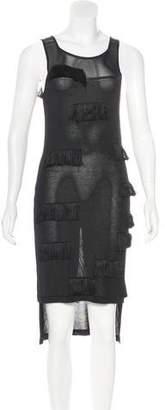 Alberto Makali Fringe-Accented Midi Dress