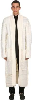 Triple Rrr Chunky Wool Knit Robe