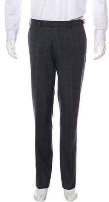 John Varvatos Wool Windowpane Pants