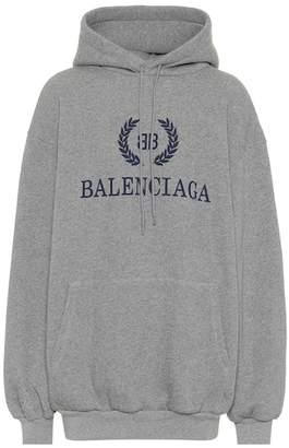 Balenciaga Printed cotton-blend hoodie