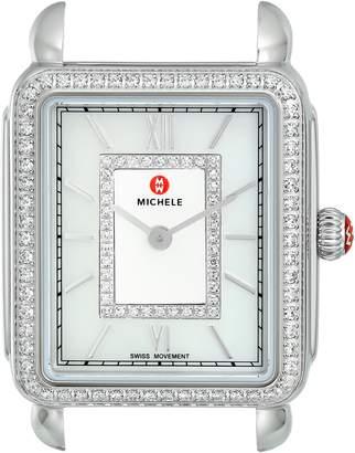 Michele Women's 'Deco II' Swiss Quartz Stainless Steel and Diamond Dress Watch(Model: MW06I01A1963)
