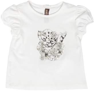 Roberto Cavalli Baby Leopard Print Jersey T-Shirt