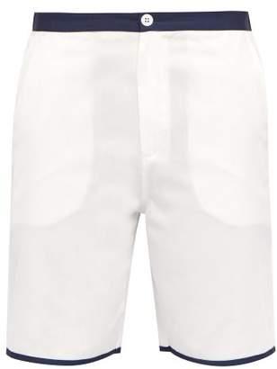 P. Le Moult - Cotton Pyjama Shorts - Mens - White