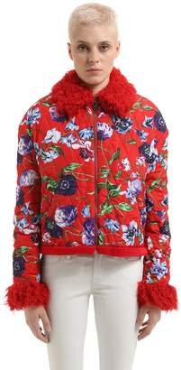 Kenzo Memento Taffeta & Faux Fur Jacket