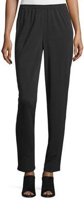 Shamask Narrow-Leg Pull-On Pants, Black