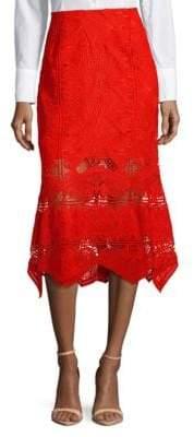 Jonathan Simkhai Embroidered Lace Skirt