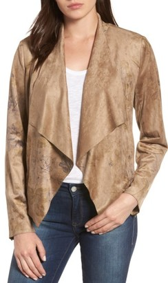 Women's Kut From The Kloth Tayanita Floral Faux Suede Jacket $98 thestylecure.com