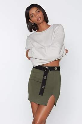 Nasty Gal Wait a Mini Slit Skirt