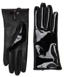 Karl Lagerfeld Glossy Wool Lined Gloves