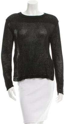 Inhabit Linen Open Knit Sweater $65 thestylecure.com