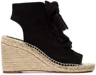 Chloé Black harper 70 suede wedges