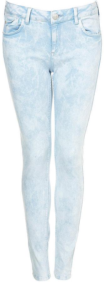 Topshop Ice Blue Jamie Jeans