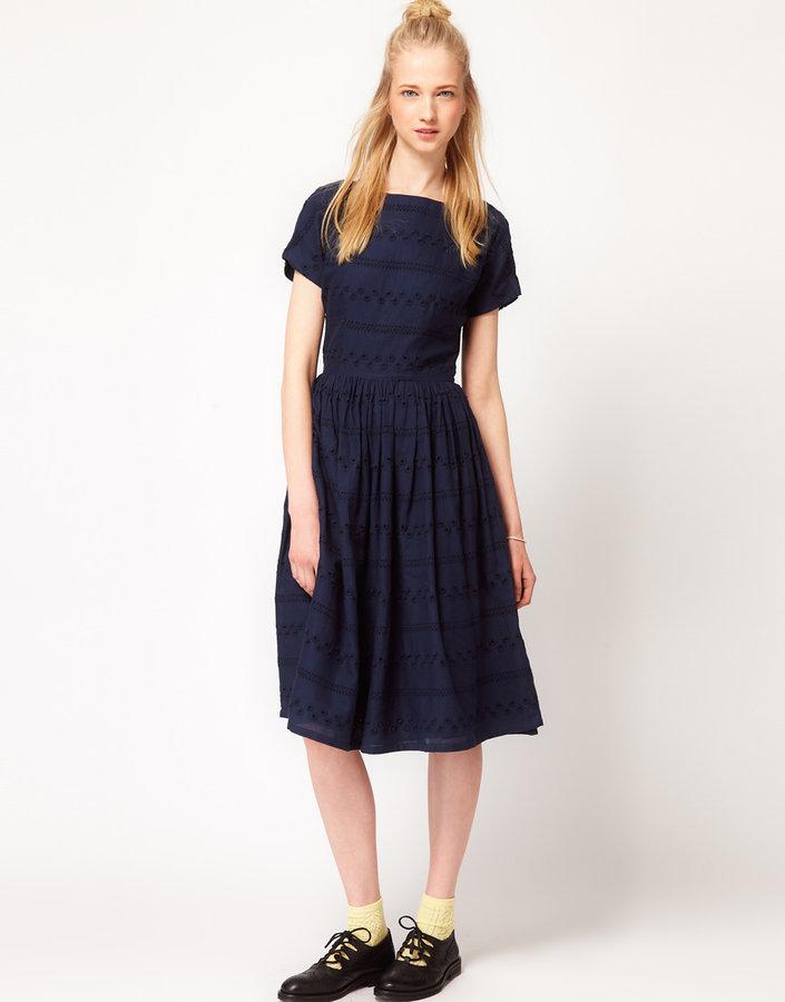 YMC Herringbone Gypsy Dress
