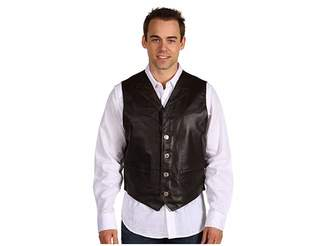 Roper Leather Notch Collar Vest