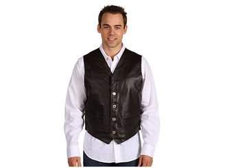 Roper Leather Notch Collar Vest Men's Vest