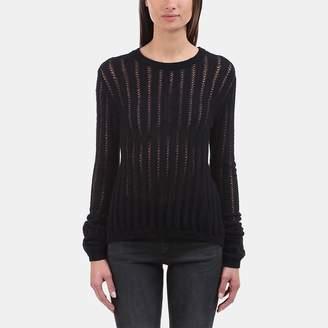 A.L.C. Miguel Split-Back Lace-Up Sweater
