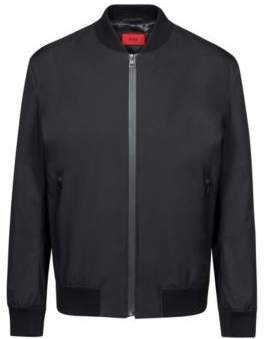 HUGO Boss Water-repellent jacket zippered front L Black