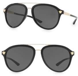 Versace 58MM Aviator Sunglasses
