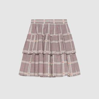 Gucci Children's Prince of Wales wool skirt