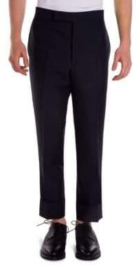 Thom Browne Backstrap Wool& Mohair Blend Trousers