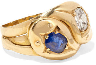 Fred Leighton - 1900s 18-karat Gold, Diamond And Sapphire Ring