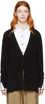 3.1 Phillip Lim Black Side Slit Lofty Cardigan