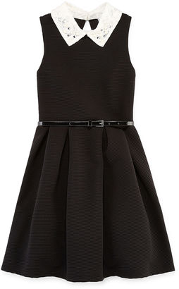 Knit Works Sleeveless Belted Ottoman Skater Dress - Girls 7-16 $50 thestylecure.com