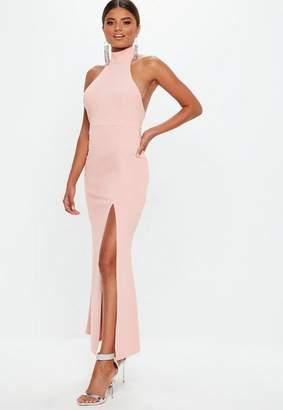 Missguided Blush Choker Maxi Dress