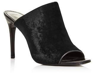 Rachel Zoe Women's Marlene Velvet High-Heel Slide Sandals