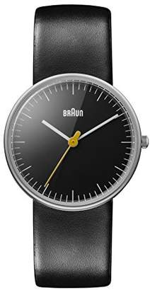 """Braun Women's BN0021BKBKL """"Classic"""" Stainless Steel Watch with Leather Band"""