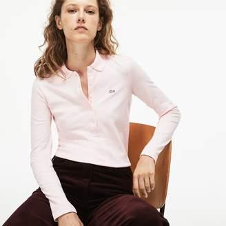 Lacoste Women's Slim Fit Stretch Mini Pique Polo Shirt