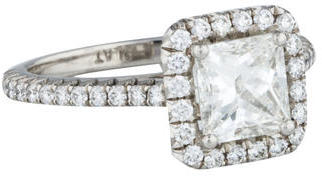 Diamond Halo Engagement Ring $7,800 thestylecure.com