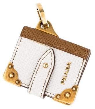 Prada Book Leather Keychain w/ Tags