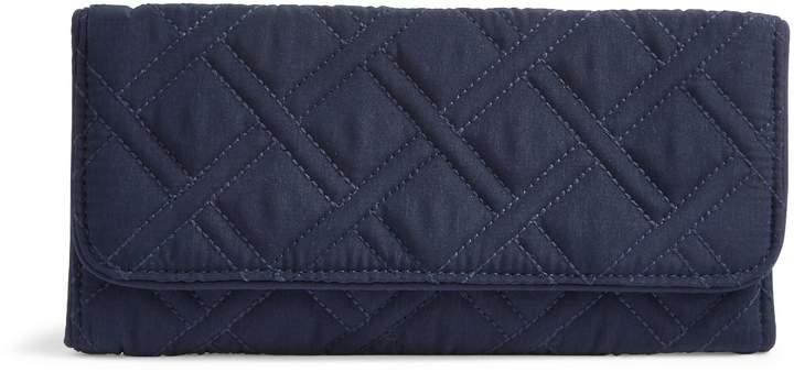 Vera Bradley RFID Trifold Wallet - MICROFIBER CLASSIC BLACK - STYLE