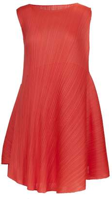 Pleats Please Issey Miyake Flared Pleated Dress