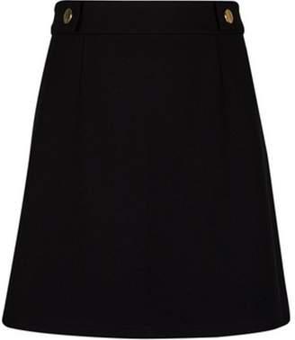 72279e40f06 Dorothy Perkins Womens Petite Black Popper Mini Skirt