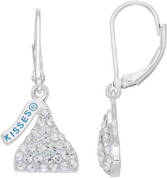 Hershey's Hersheys Sterling Silver Crystal Kiss Drop Earrings