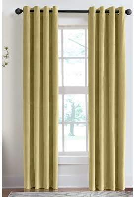 Veratex Velvet Soft Luxury Grommet Single Curtain Panel