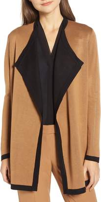 Anne Klein Colorblock Drapey Cardigan