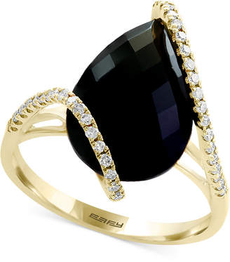 Effy Eclipse by Onyx & Diamond (1/5 ct. t.w.) Ring in 14k Gold