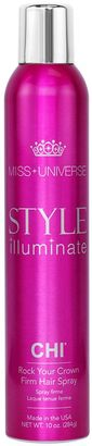 Miss Universe Style Illuminate by CHI Rock Your Crown Firm Hair Spray $16 thestylecure.com