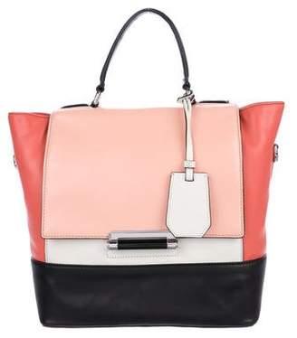 Diane von Furstenberg Colorblock Leather Satchel