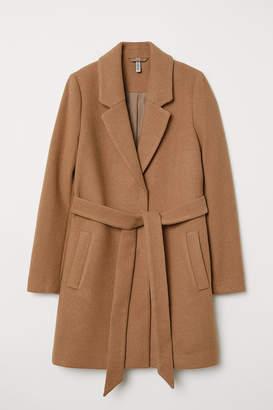 H&M Coat with Tie Belt - Beige