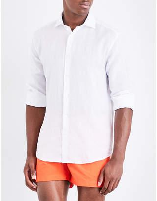 Frescobol Carioca Regular-fit linen shirt