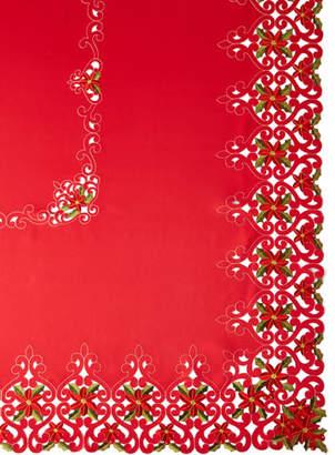 "Sferra Poinsettia 72"" x 90"" Tablecloth with 8 Napkins"