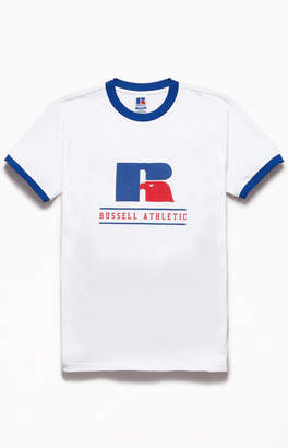 Russell Athletic Puff Print Ringer T-Shirt