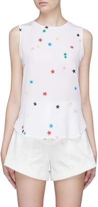 Equipment 'Lyle' star print silk crepe sleeveless shirt